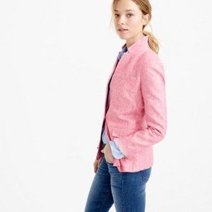 J. Crew Collection Pink 100% Linen Regent Blazer 2